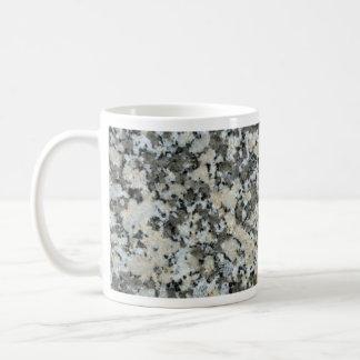 Roca sólido tomada para el granito taza básica blanca