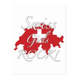 ¡Roca suiza de los chicas! Postal