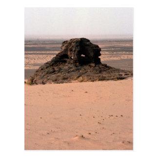 Roca surrealista resistida de la piedra arenisca,  postales