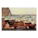 Roca transparente en Etretat de Claude Monet Posters