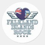 Roca v2 de Islas Malvinas Etiqueta Redonda
