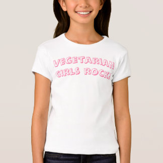 ¡Roca vegetariana de los chicas! Playera