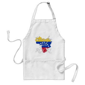 ¡Roca venezolana de los chicas! Delantal