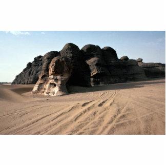 Roca y arena resistidas, roca FO de la piedra aren Fotoescultura Vertical