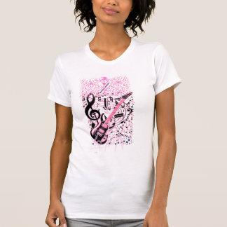 Roca y balanceo para el cáncer de pecho Awareness_ Camisetas