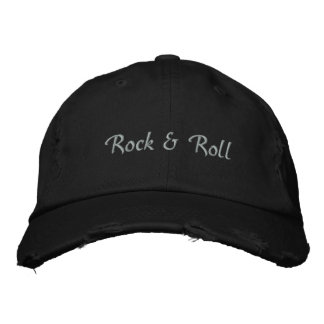 Roca y gorra de béisbol ligera bordada rollo del t