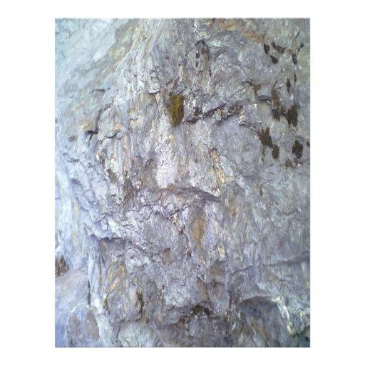 Roca y piedra tarjetas informativas