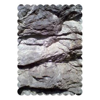 Roca y piedra invitación 12,7 x 17,8 cm