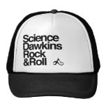 Roca y rollo de los dawkins de la ciencia gorro de camionero