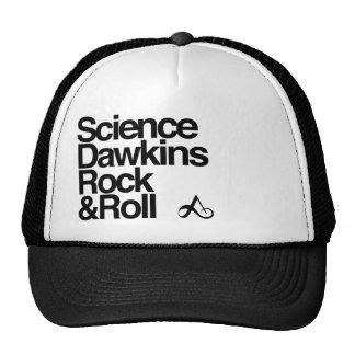 Roca y rollo de los dawkins de la ciencia gorras de camionero