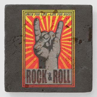 Roca y rollo posavasos de piedra