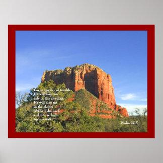 Roca y salmos rojos posters