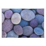 Rocas azules de piedra manteles individuales