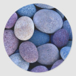 Rocas azules de piedra pegatina redonda