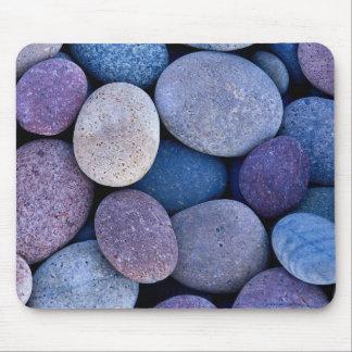 Rocas azules de piedra tapete de raton