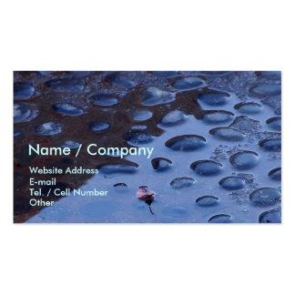 Rocas azules plantillas de tarjeta de negocio