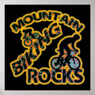 Rocas Biking de la montaña Póster