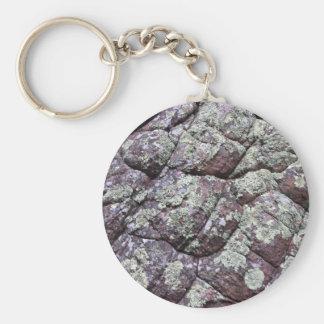 Rocas Bouldered con el musgo del liquen Llaveros Personalizados