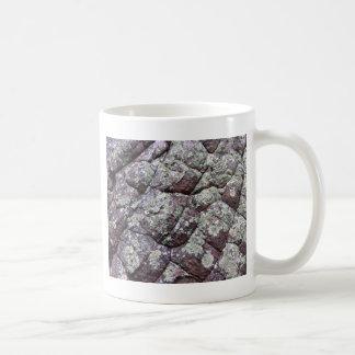 Rocas Bouldered con el musgo del liquen Taza Clásica