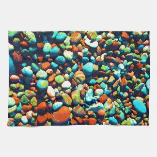 Rocas ciegas de la playa toallas de cocina