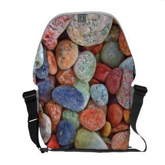 Rocas coloridas bolsa messenger