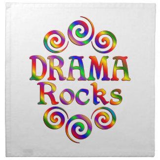 Rocas coloridas del drama servilletas imprimidas