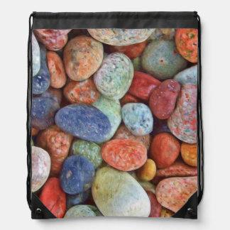 Rocas coloridas mochilas