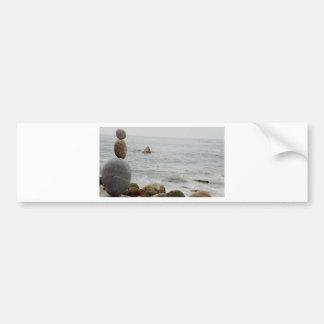 Rocas costeras etiqueta de parachoque