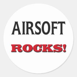 Rocas de Airsoft Pegatina Redonda