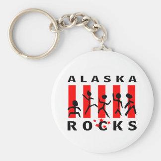 Rocas de Alaska Llavero Redondo Tipo Pin