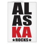 ¡Rocas de Alaska! Regalos y ropa del alcohol del e Tarjetas