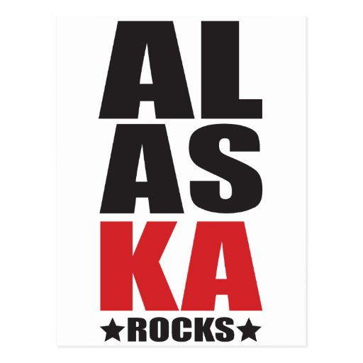¡Rocas de Alaska! Regalos y ropa del alcohol del Postal