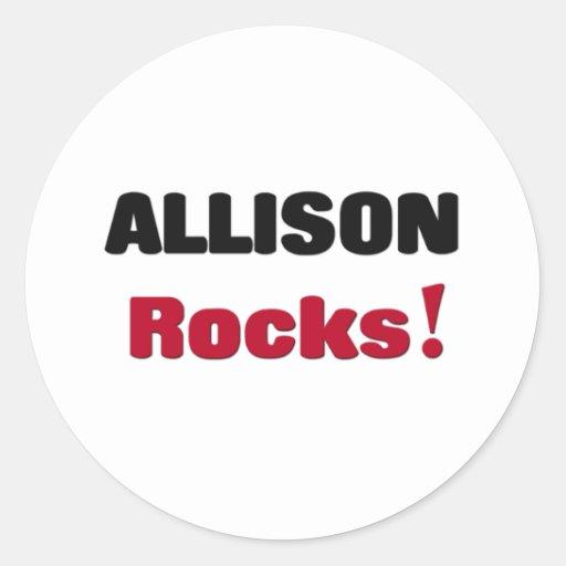 Rocas de Allison Etiquetas Redondas