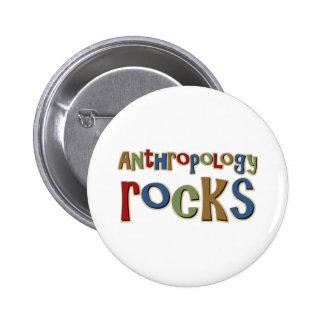 Rocas de Antrhopology Pin Redondo De 2 Pulgadas