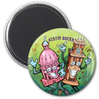 Rocas de Austin Imán Redondo 5 Cm