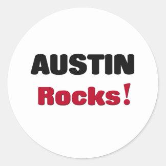 Rocas de Austin Pegatina Redonda