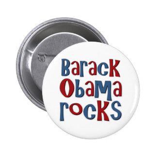 Rocas de Barack Obama Pin Redondo 5 Cm
