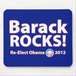 ¡ROCAS de Barack! Reelija a Obama 2012 Tapete De Ratones