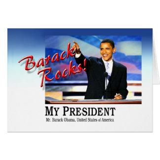 ¡Rocas de Barack! Tarjeta De Felicitación