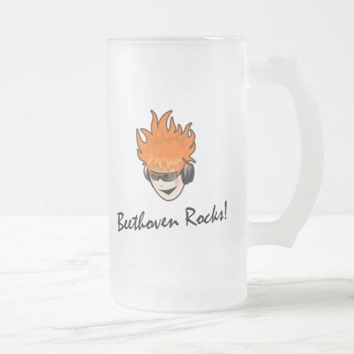 ¡Rocas de Beethoven! Taza De Café
