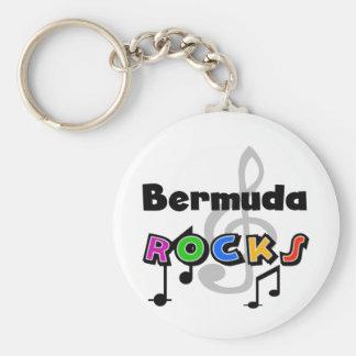 Rocas de Bermudas Llavero Redondo Tipo Pin