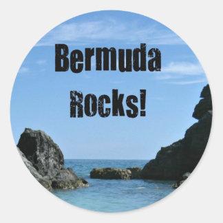 ¡Rocas de Bermudas Pegatinas