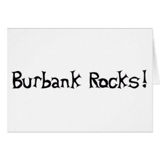 Rocas de Burbank Tarjeta De Felicitación