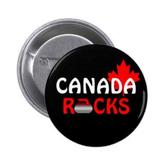 Rocas de Canadá - encrespándose Pin Redondo 5 Cm