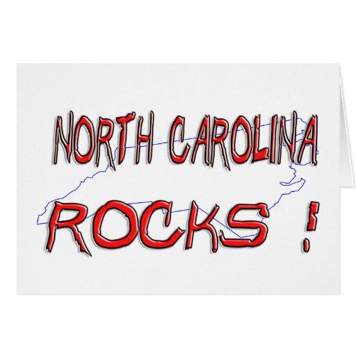 ROCAS de Carolina del Norte Tarjeta De Felicitación