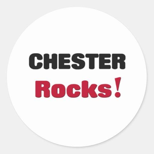 Rocas de Chester Etiqueta Redonda