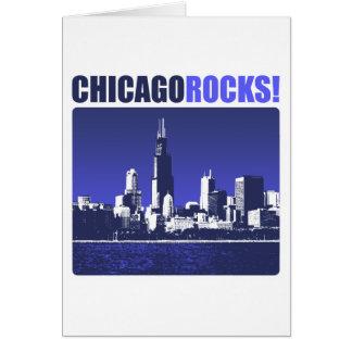 ¡Rocas de Chicago! Tarjeta De Felicitación