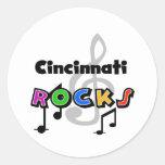 Rocas de Cincinnati Etiquetas Redondas