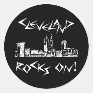 ¡Rocas de Cleveland! Pegatina Redonda
