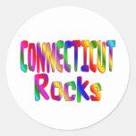 Rocas de Connecticut Etiqueta Redonda